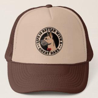 生命はグレートデーン犬の品種とよりよいです キャップ