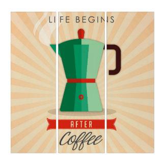 生命はコーヒーの後で始まります トリプティカ
