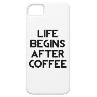 生命はコーヒーの後で始まります iPhone SE/5/5s ケース