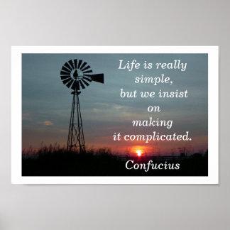 生命はシンプルです ポスター