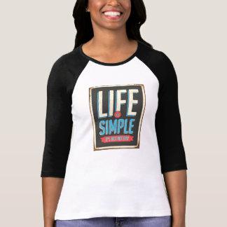 生命はシンプルなTシャツです Tシャツ
