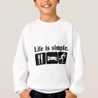 生命はシンプルのスキーです スウェットシャツ