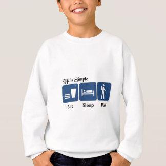 生命はシンプルのハイキングです スウェットシャツ