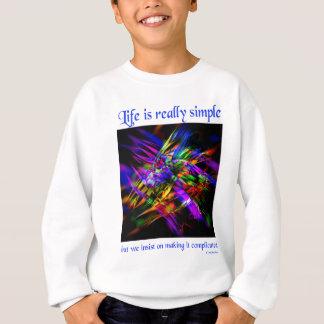 生命はシンプル(3)です スウェットシャツ