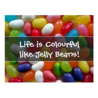 生命はゼリー菓子のようにカラフルです ポストカード