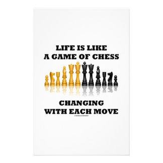 生命はチェス(チェスの態度)のゲームのようです 便箋