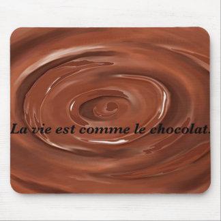 生命はチョコレートのようです マウスパッド
