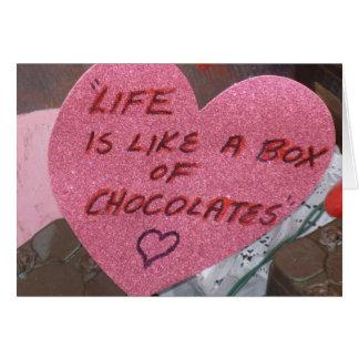 生命はチョコレートの箱です カード