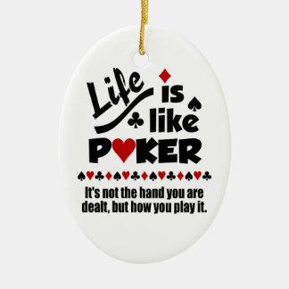 生命はトランプのポーカーのカスタムのオーナメントを好みます セラミックオーナメント