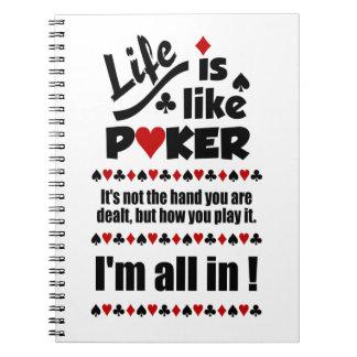 生命はトランプのポーカーのカスタムのノートを好みます ノートブック