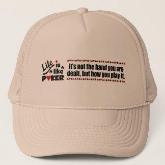生命はトランプのポーカーの帽子を好みます キャップ