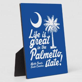 生命はパルメットの州で素晴らしいです! フォトプラーク