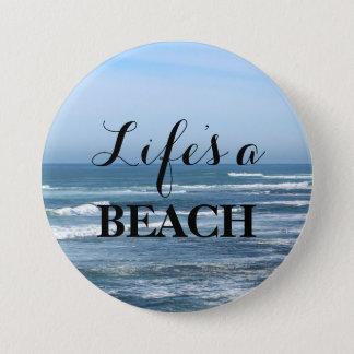 生命はビーチです 缶バッジ