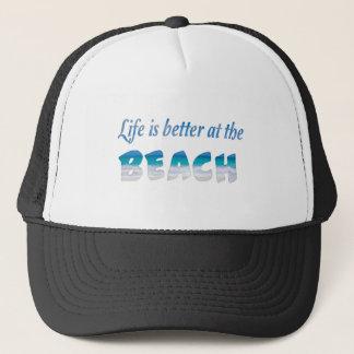 生命はビーチでよりよいです キャップ