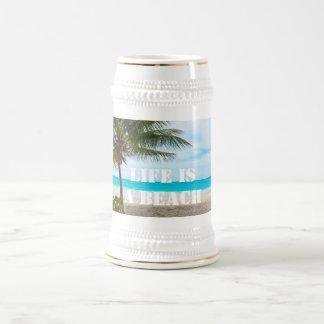 生命はビーチビールステインのマグです ビールジョッキ