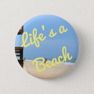 生命はビーチボタンです 5.7CM 丸型バッジ