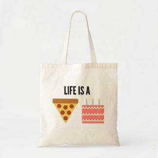 生命はピザケーキのトートバックです トートバッグ