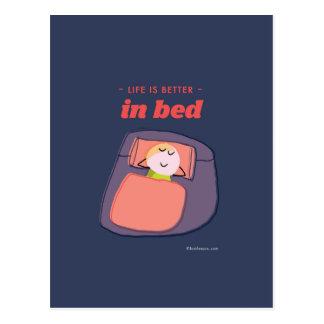 生命はベッドでよりよいです ポストカード
