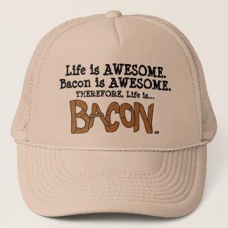 生命はベーコンです。 トラック運転手の帽子 キャップ