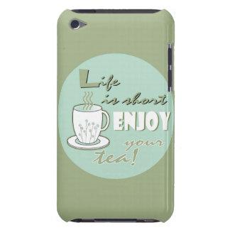 生命は不足分楽しみます薄緑あなたの茶を-です Case-Mate iPod TOUCH ケース
