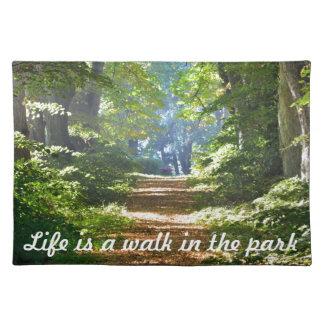生命は公園のランチョンマットの歩行です ランチョンマット