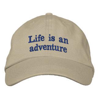 生命は冒険です 刺繍入りキャップ