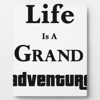 生命は壮大な冒険です フォトプラーク