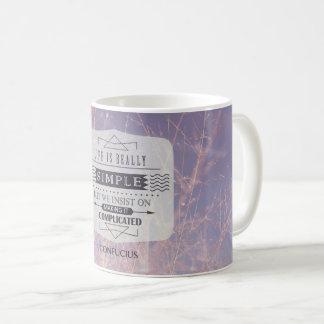生命は実際にシンプルです コーヒーマグカップ