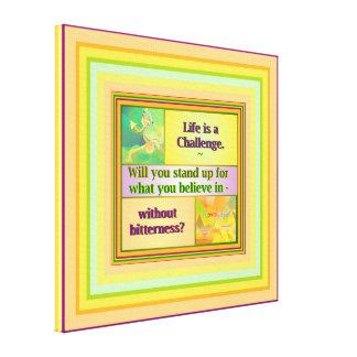 生命は小さい挑戦インスピレーションです キャンバスプリント