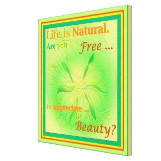 生命は小さい自然な春の白熱芸術のインスピレーションです キャンバスプリント