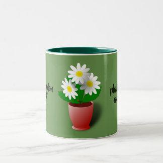 生命は庭です ツートーンマグカップ
