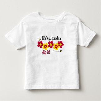 生命は庭です トドラーTシャツ