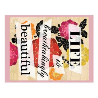 生命は息もつけないほど美しい郵便はがきです ポストカード