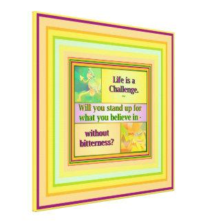 生命は挑戦インスピレーションです キャンバスプリント