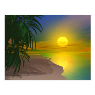 生命は明るいビーチです ポストカード