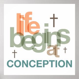 生命は概念で始まります ポスター
