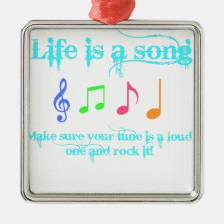 生命は歌です メタルオーナメント