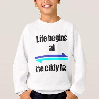 生命は渦ラインで始まります スウェットシャツ