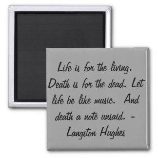 生命は生きているののため…です マグネット