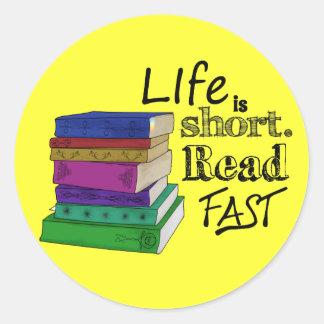 生命は短いです。 読書は絶食します ラウンドシール