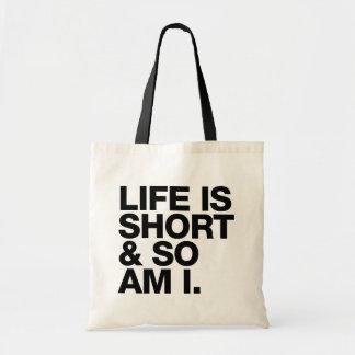 生命は短かったり及び従って私おもしろいな引用文です トートバッグ