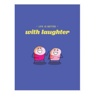 生命は笑い声とよりよいです ポストカード