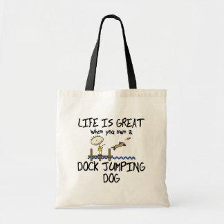 生命は素晴らしい波止場の跳躍です トートバッグ