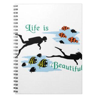生命は美しいです ノートブック