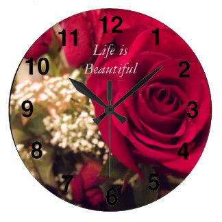生命は美しい柱時計です ラージ壁時計