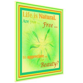生命は自然な春の白熱芸術のインスピレーションです キャンバスプリント