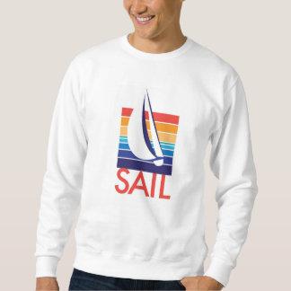 生命は色の正方形帆のBreeze®_Boatです スウェットシャツ