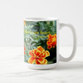 生命は花です コーヒーマグカップ