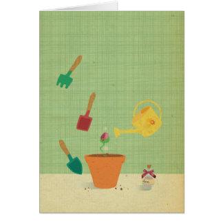 生命は花Notecardです カード