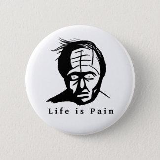 生命は苦痛です 5.7CM 丸型バッジ